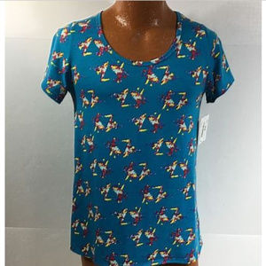 LuLaRoe Simply Comfortable Blue Classic T  Size S.